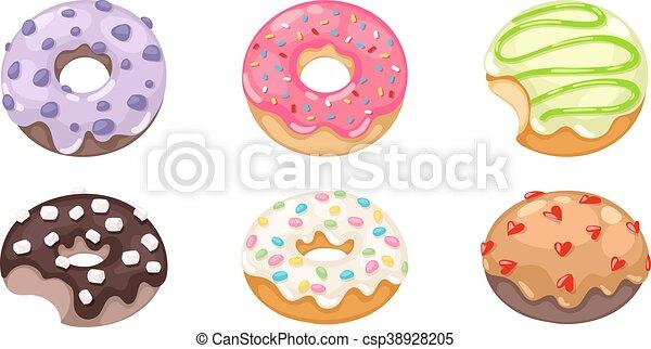 Donuts vector set. - csp38928205