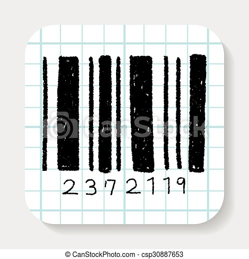 doodle barcode clipart vector search illustration drawings and