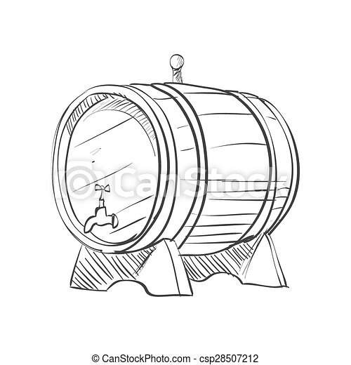 doodle barrel - csp28507212