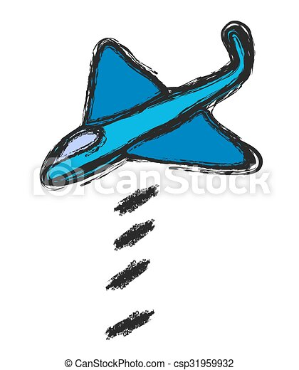doodle  bomber, vector - csp31959932