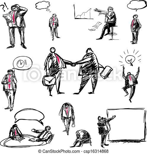 doodle business - csp16314868