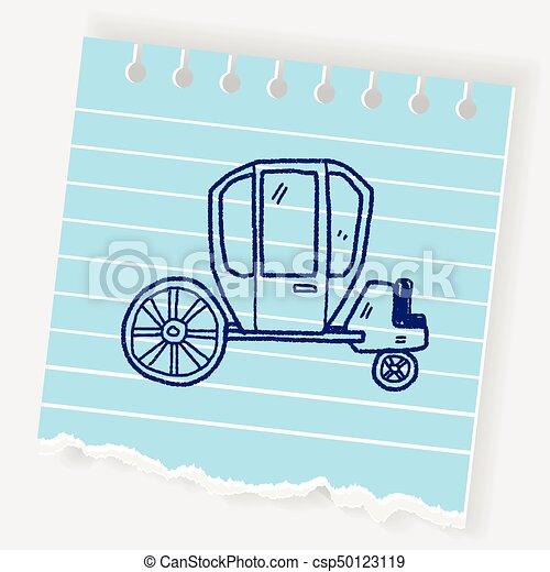 doodle, carruagem - csp50123119