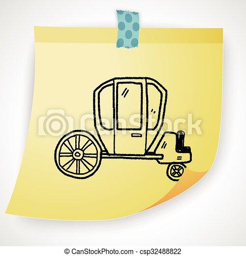 doodle, carruagem - csp32488822