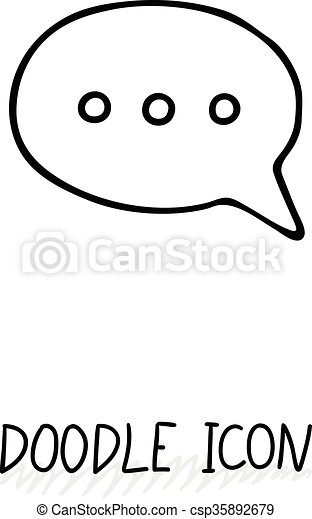 doodle chatting icon text bubble cloud for messages posts sms rh canstockphoto com text message bubble vector text message bubble vector