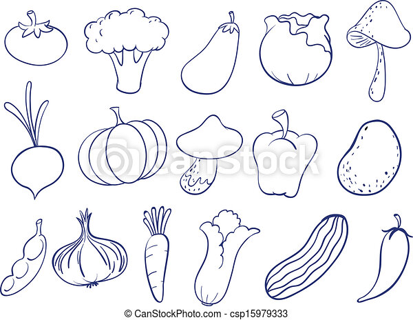 Doodle design of fruits - csp15979333