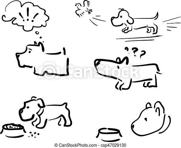Doodle Dog 001 Funny Characters Different Dogs For