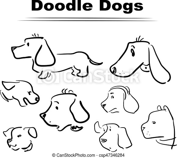 Doodle Dog 005 Funny Characters Different Dogs For