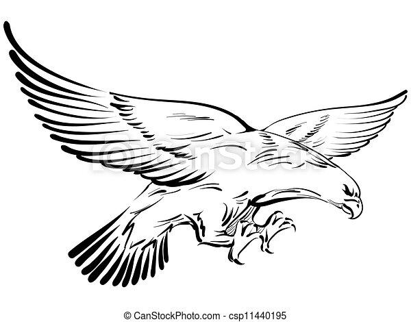 doodle eagle vector illustration eps vectors search clip
