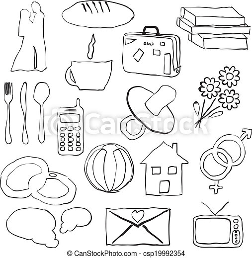 doodle family pictures - csp19992354