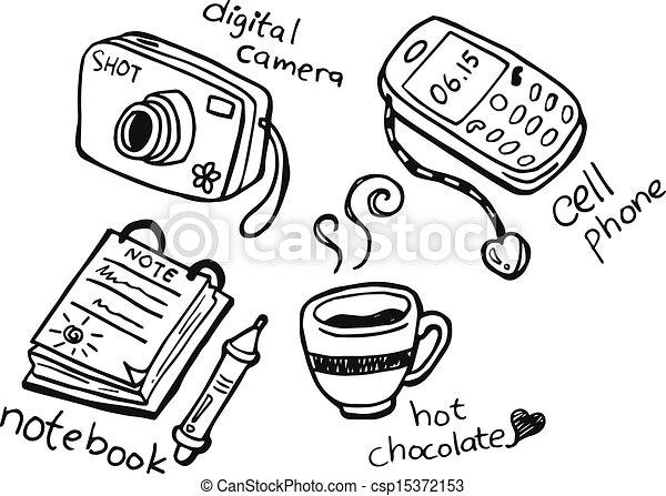 doodle, farceren, alledaags - csp15372153