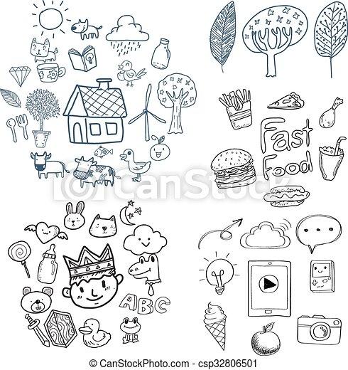 Doodle farming  - csp32806501