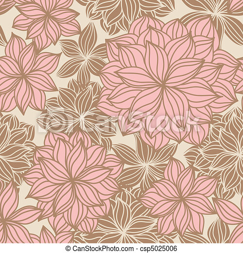 Doodle Floral Seamless Pattern - csp5025006