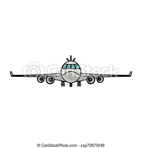 doodle front airplane vehicle fashion transport - csp70870048