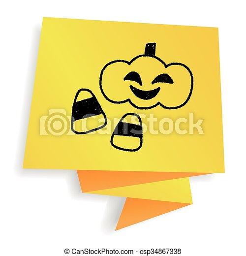 Halloween Tekeningen Pompoen.Doodle Halloween Tekening Pompoen