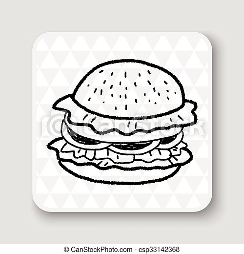 doodle hamburger clip art vector search drawings and graphics