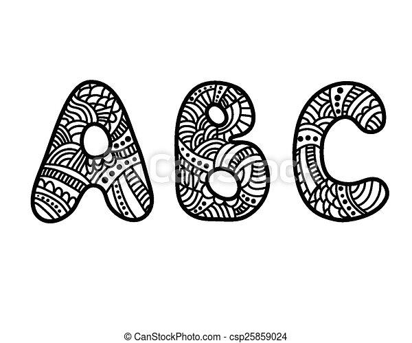 Doodle hand drawn abc letters doodle hand drawn vector alphabet doodle hand drawn abc letters csp25859024 altavistaventures Gallery