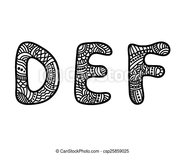 Doodle hand drawn letters doodle hand drawn vector vector doodle hand drawn letters csp25859025 altavistaventures Images