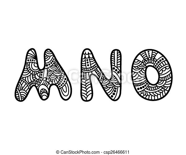 Doodle hand drawn letters doodle hand drawn vector alphabet mno doodle hand drawn letters csp26466611 thecheapjerseys Images