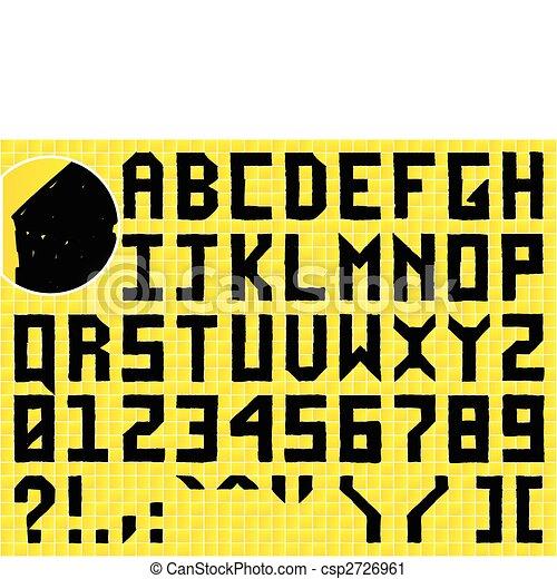 Doodle Hand Made Alphabet - csp2726961