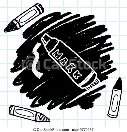 doodle highlighter pen - csp40779287