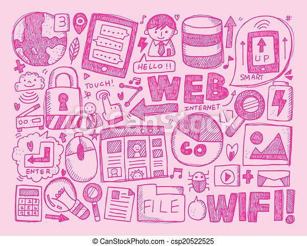 doodle internet background - csp20522525