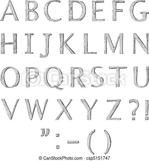Doodle letters - csp5151747