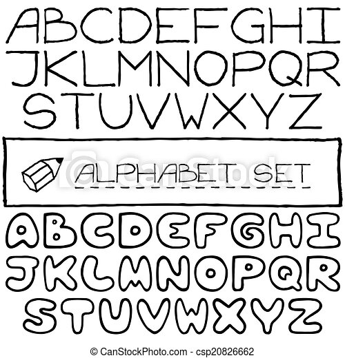 Doodle letters set of two full alphabets vector illustration doodle letters set of two full alphabets csp20826662 thecheapjerseys Gallery