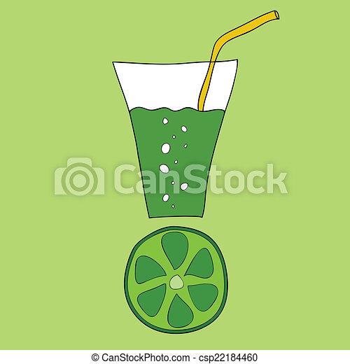 Doodle lime juice - csp22184460