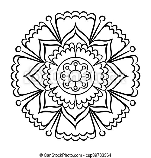 Doodle Mandala Coloring Page