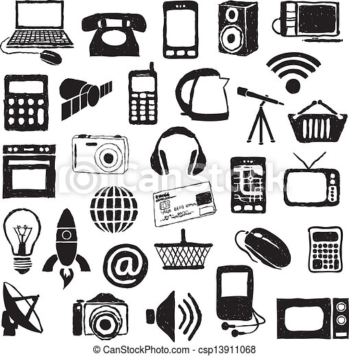 doodle modern technology images clip art vector search drawings rh canstockphoto ca modern clipart frame modern clipart