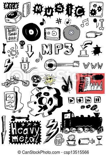 Rock Music Drawings