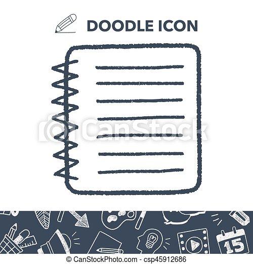 doodle notebook - csp45912686