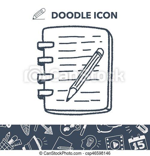 doodle notebook - csp46598146