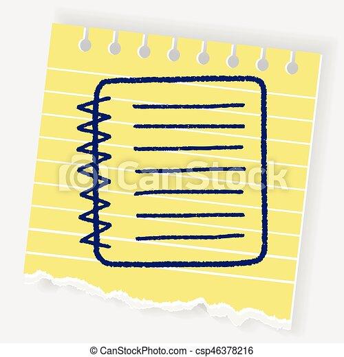 doodle notebook - csp46378216