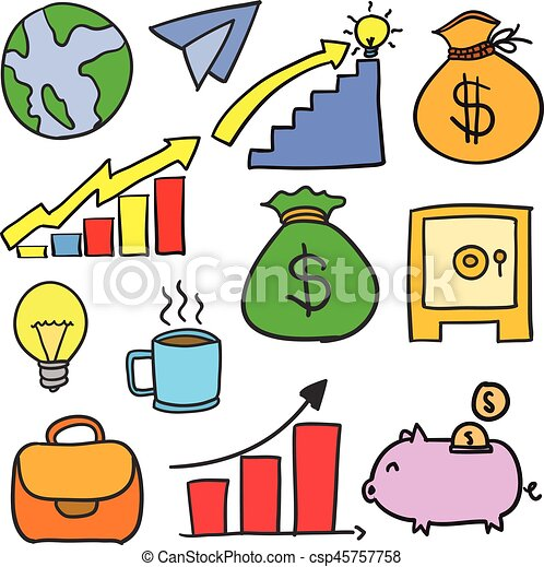 doodle of business object unique vector illustration clipart vector rh canstockphoto co uk City Clip Art Soccer Ball Clip Art