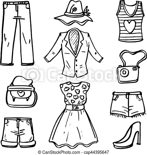 f69d3725028 Doodle of women fashion accessories