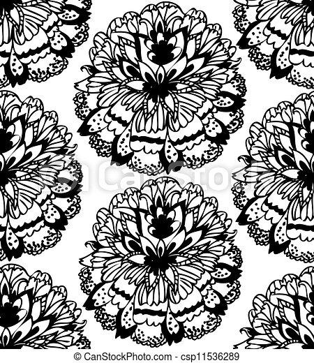 doodle pattern seamless - csp11536289