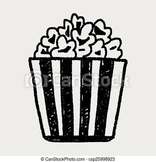 Doodle Popcorn - csp25998923