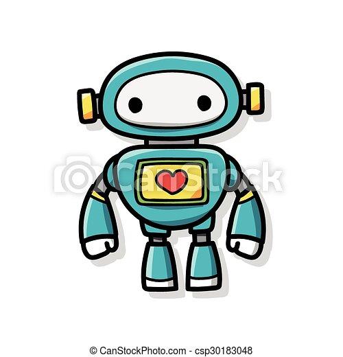 doodle, robot - csp30183048