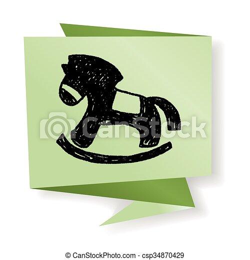 Doodle Rocking horse - csp34870429