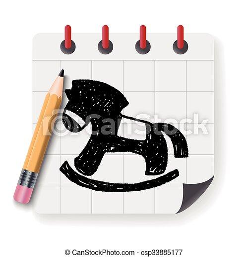 Doodle Rocking horse - csp33885177