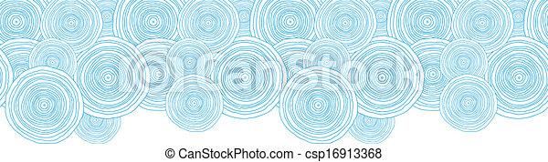 doodle, seamless, textura, água, padrão experiência, círculo, borda, horizontais - csp16913368