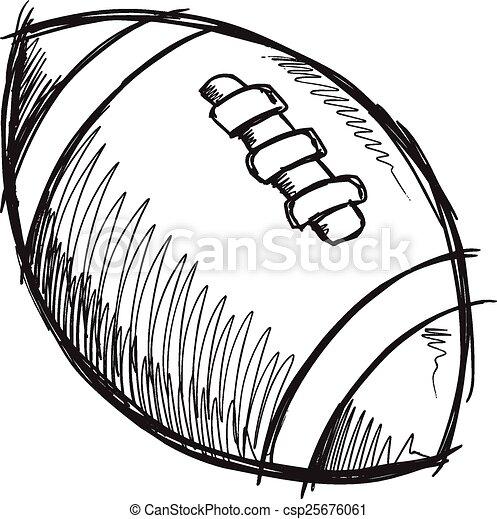 Doodle Sketch Football Vector Art Doodle Sketch Football Vector