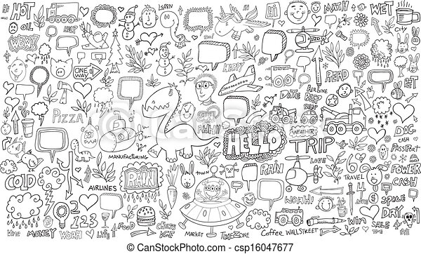 Doodle Sketch Vector Set - csp16047677