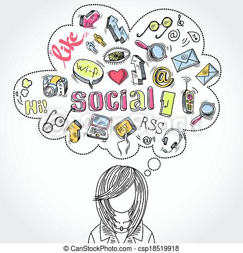 Doodle Social Media Dreams And Thoughts Doodle Blog Social Media