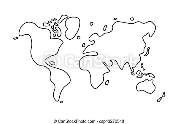 Doodle style world map eps vector search clip art illustration doodle style world map csp43272548 gumiabroncs Image collections