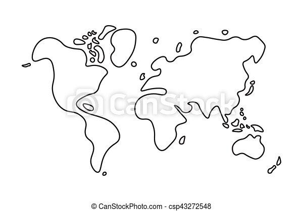Doodle style world map gumiabroncs Images