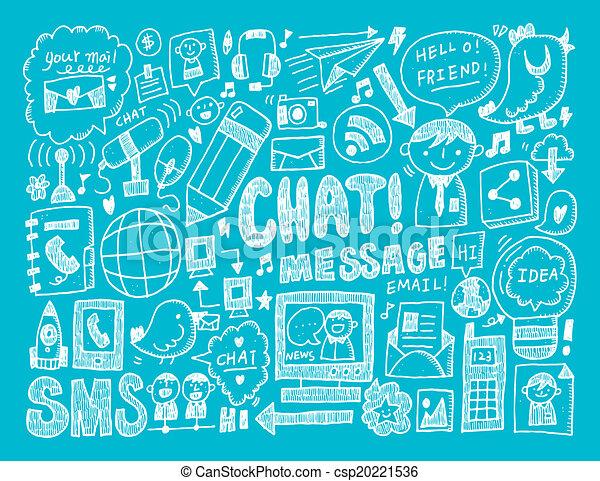doodle, tło, komunikacja - csp20221536