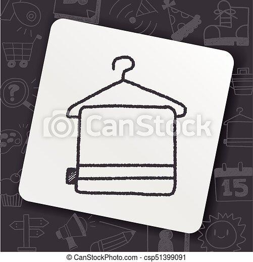 doodle towel - csp51399091