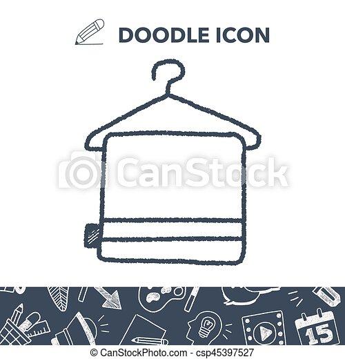 doodle towel - csp45397527